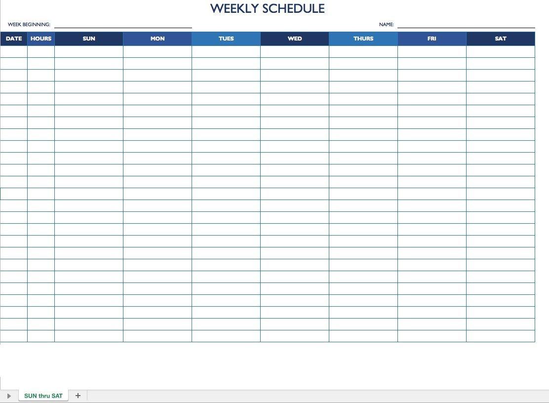 Monday Thru Friday Schedule Template | Example Calendar How To Make A Calendar In Word Monday Through Sunday