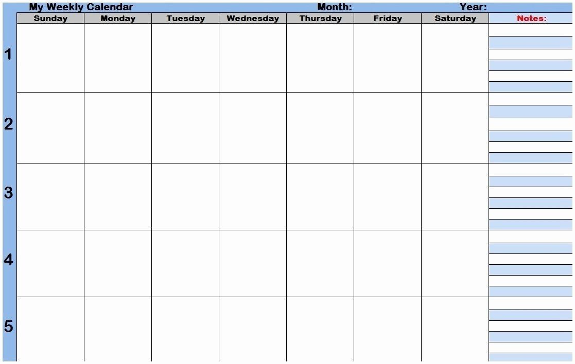 Monthly Calendar With Time Slots Inspirational Weekly Free Weekly Agenda Templates With Time Slots