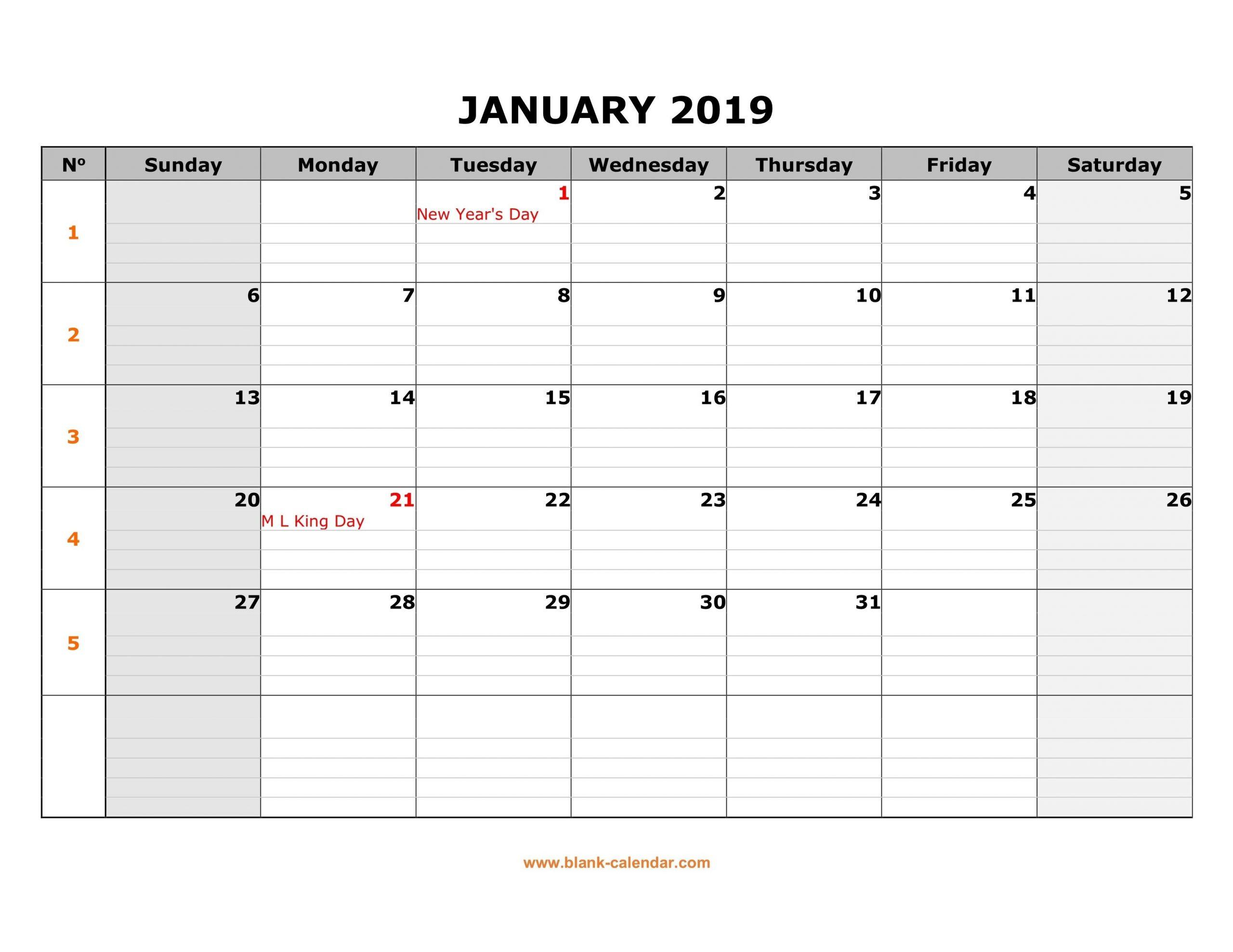 Monthly Monday To Friday Calendar | Calendar Template Mon – Friday Monthly Calendar Template