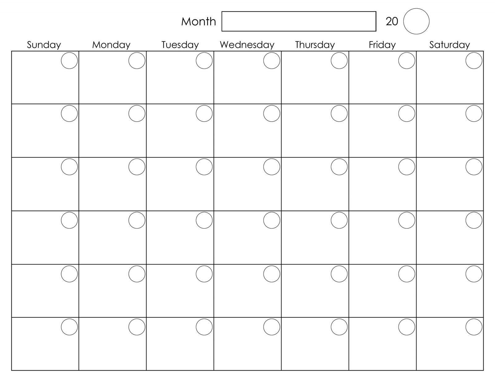 Monthly Monday To Friday Calendar | Calendar Template Printable Calendar Monday  Friday