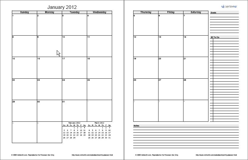 Monthly Planner Template – Free Printable Monthly Planner Free Two Week Planning Calendaar