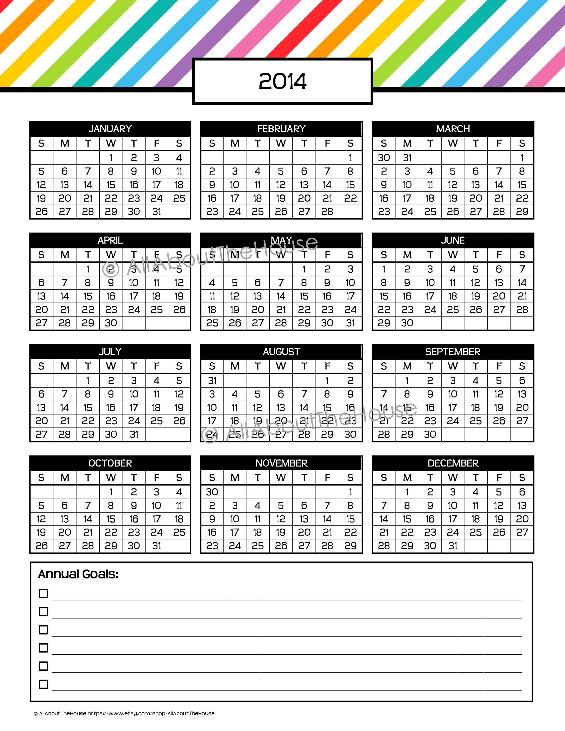 My 2015 Printable Rainbow Daily Planner   Allaboutthehouse Short Timers Calendar Printable