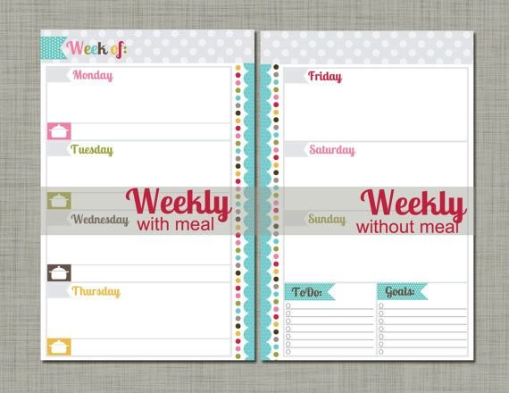 New! Undated Printable Planner – Polkadotposie Signature Printabel Planner Pages For 5.5 X 8.5 Planner