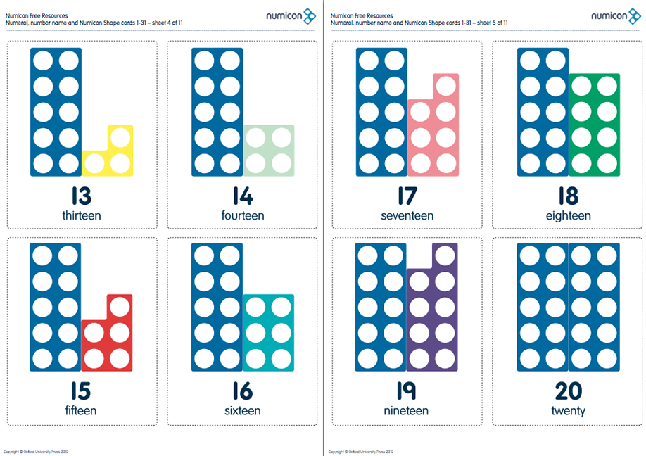 Numicon Cards For Numbers 1 31!   Numicon, Numicon Number Cards Until 31 Printable