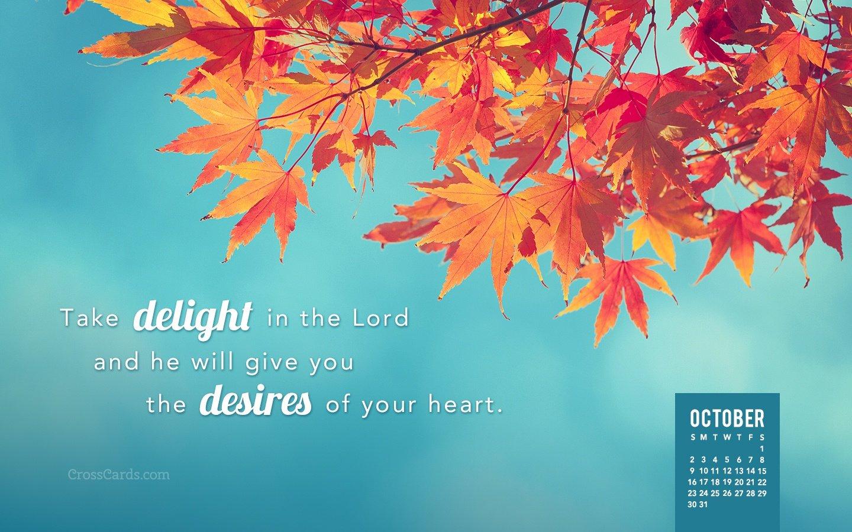 October 2016 – Take Delight In The Lord Desktop Calendar Download Crosscards Monthly Calendar For Computer Background