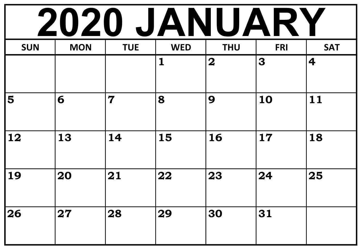 October 2020 8.5 X 14 Landscape Editable Printable 5 X 8 Calendar Template
