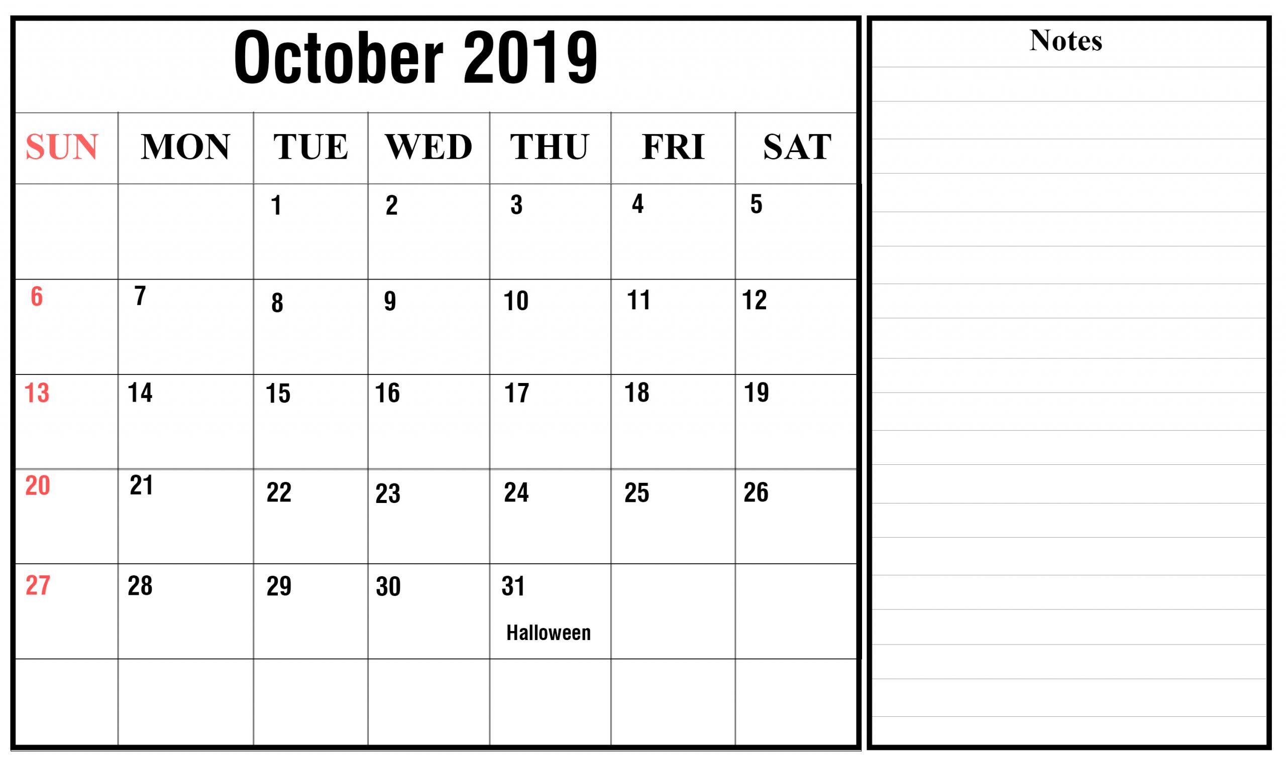 October Calendar Mon Fri   Calendar Template Printable Mon Fri Calendar Template