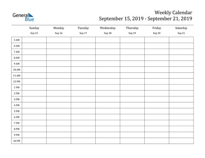 One Week Calendar Template Word   Pdf Template 1 Week Calendar Pdf