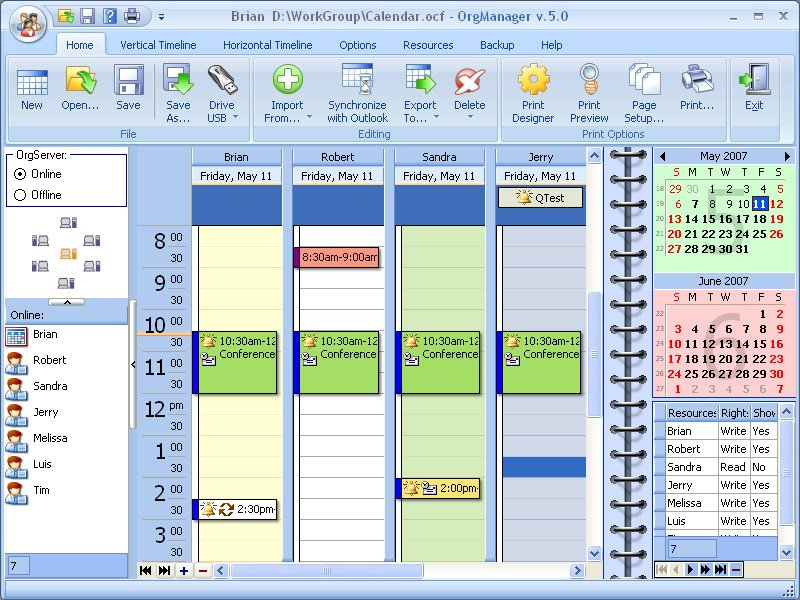 Orgscheduler Lan: Your Network Users Schedule Is Always At Free Reservation Calendar For Website