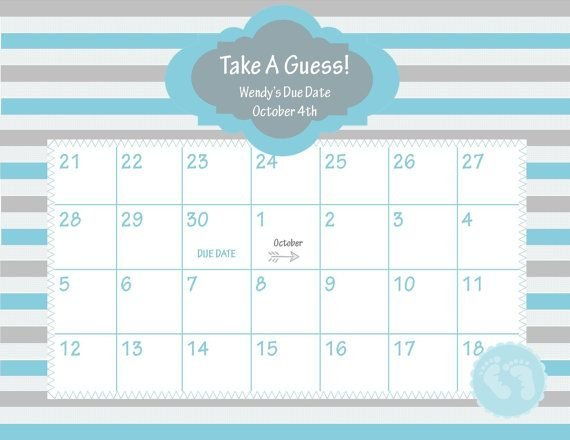 Pin On Baby Baby Guess Due Date Calander