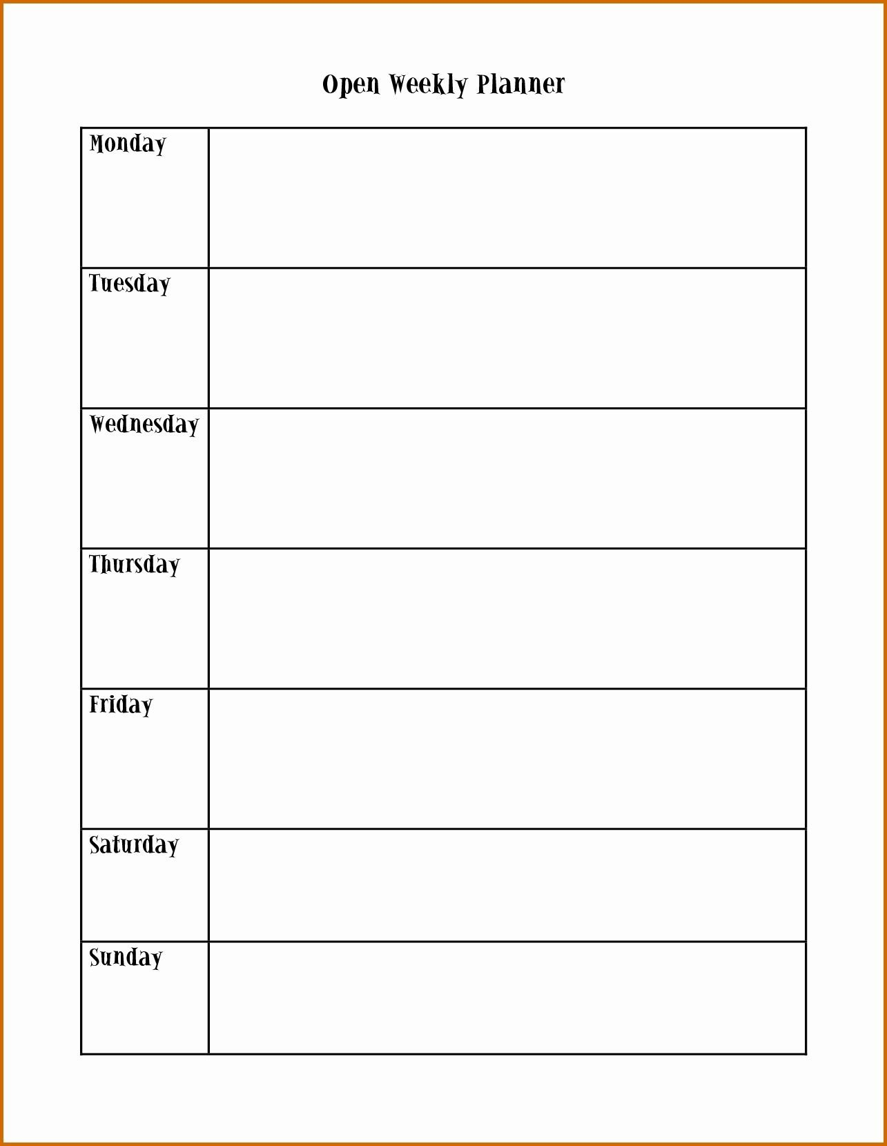 Pin On Calendar Printable Ideas Printable Monday To Friday Timetable