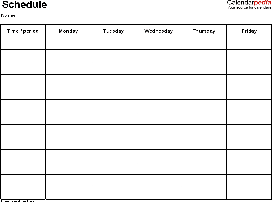 Pin On To Organize Mon Fri Monthly Calendar Template