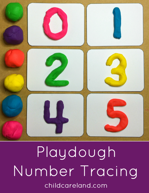 Playdough Number Tracing Number Cards Until 31 Printable