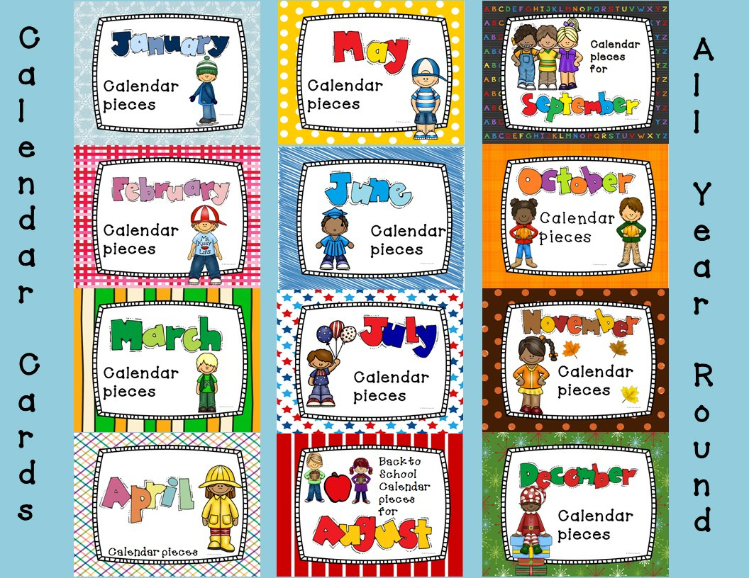 Pocket Chart Calendar And Linear Calendar Cards   Chart Birthday Calendars That We Can Fill In