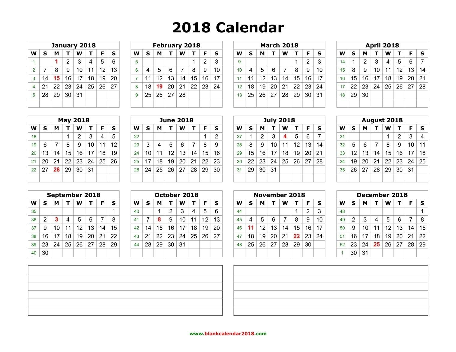 Portrait | Top Free Weekly Numbered 52 Week Calendar Printable