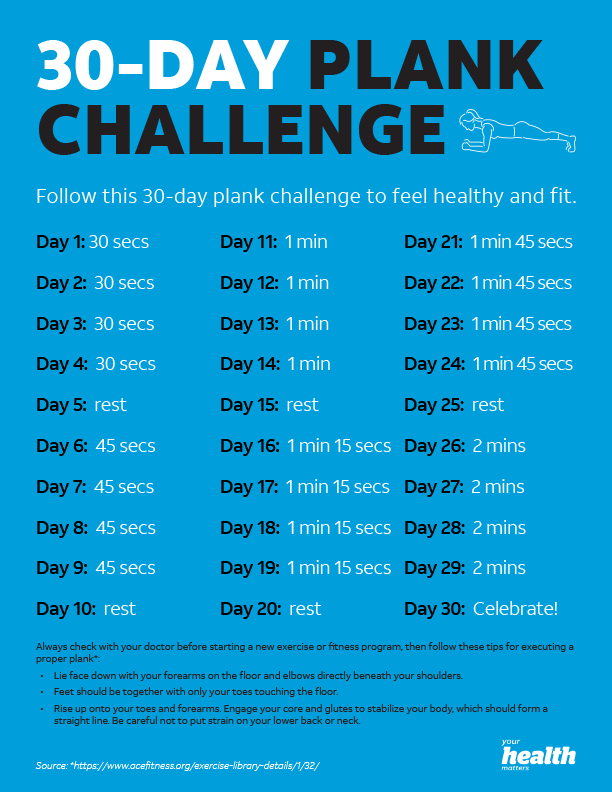 Post Thanksgiving Plank Challenge – Him Her And A Fork 30 Day Plank Challenge Free