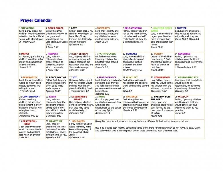 Prayer Calendars With Scriptures : Free Calendar Template Understated Calendar Template In Publisher