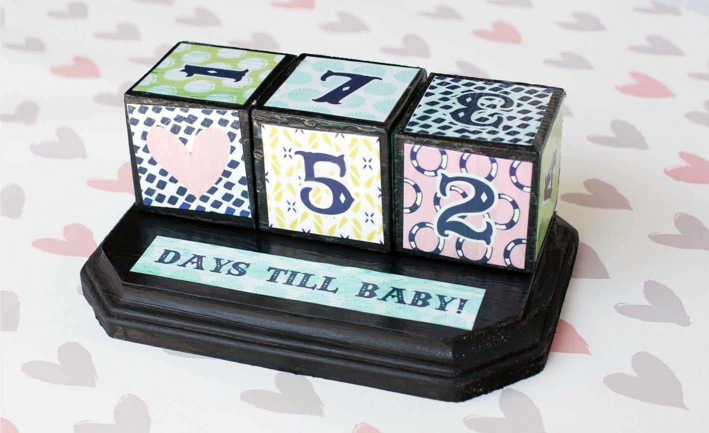 Pregnancy Countdown Calendar Gift | Free Calendar Template Pregnancy Count Down Calendar