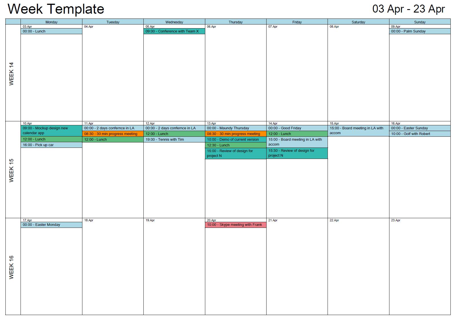 Print 6 Months Of Outlook Calendar | Example Calendar Outlook Schedule 2Week Print
