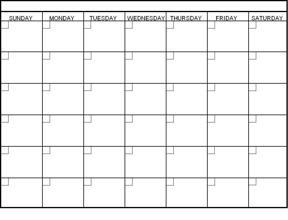 Print Blank Calendar Template – Calendar Yearly Printable Day To Day Calendar Template