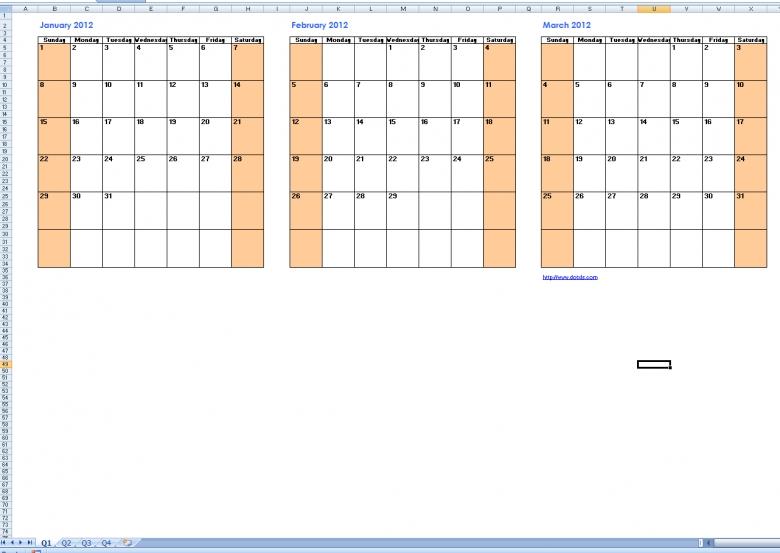 Print Calendars Quarterly : Free Calendar Template Military Short Timer Calendar Pdf