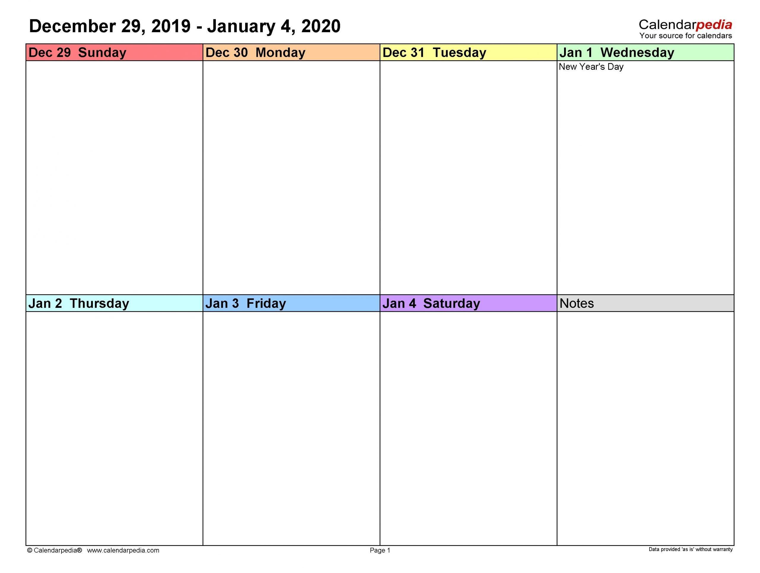 Print Calendarweek In 2020 | Free Calendar Template Every 2 Week Calendar