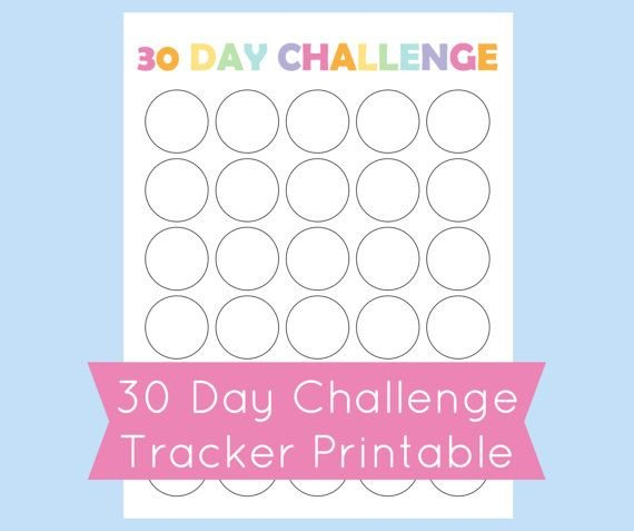 Printable 30 Day Challenge Tracker. Use This Template To 30 Day Printable Schedule