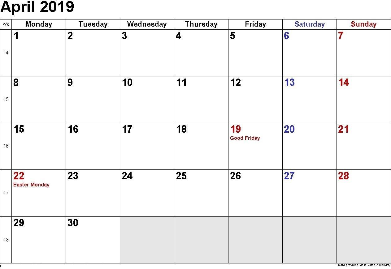 Printable Calendar 2019 You Can Edit   Printable Calendar Free Calendars You Can Edit And Print