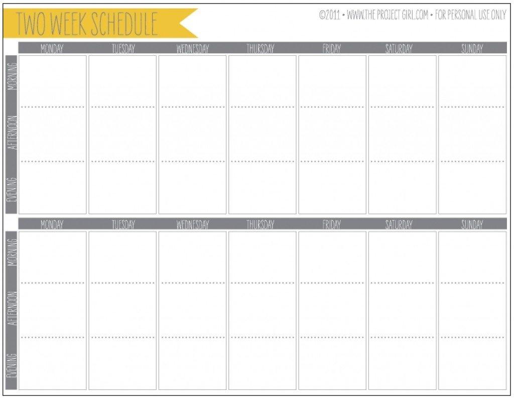 Printable Calendar Two Weeks | Ten Free Printable Calendar Printable Two Week Calendar