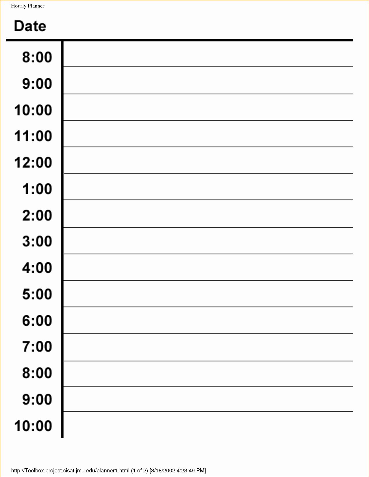 Printable Daily Calendarhour | Example Calendar Printable Daily Calendar By Hour Template