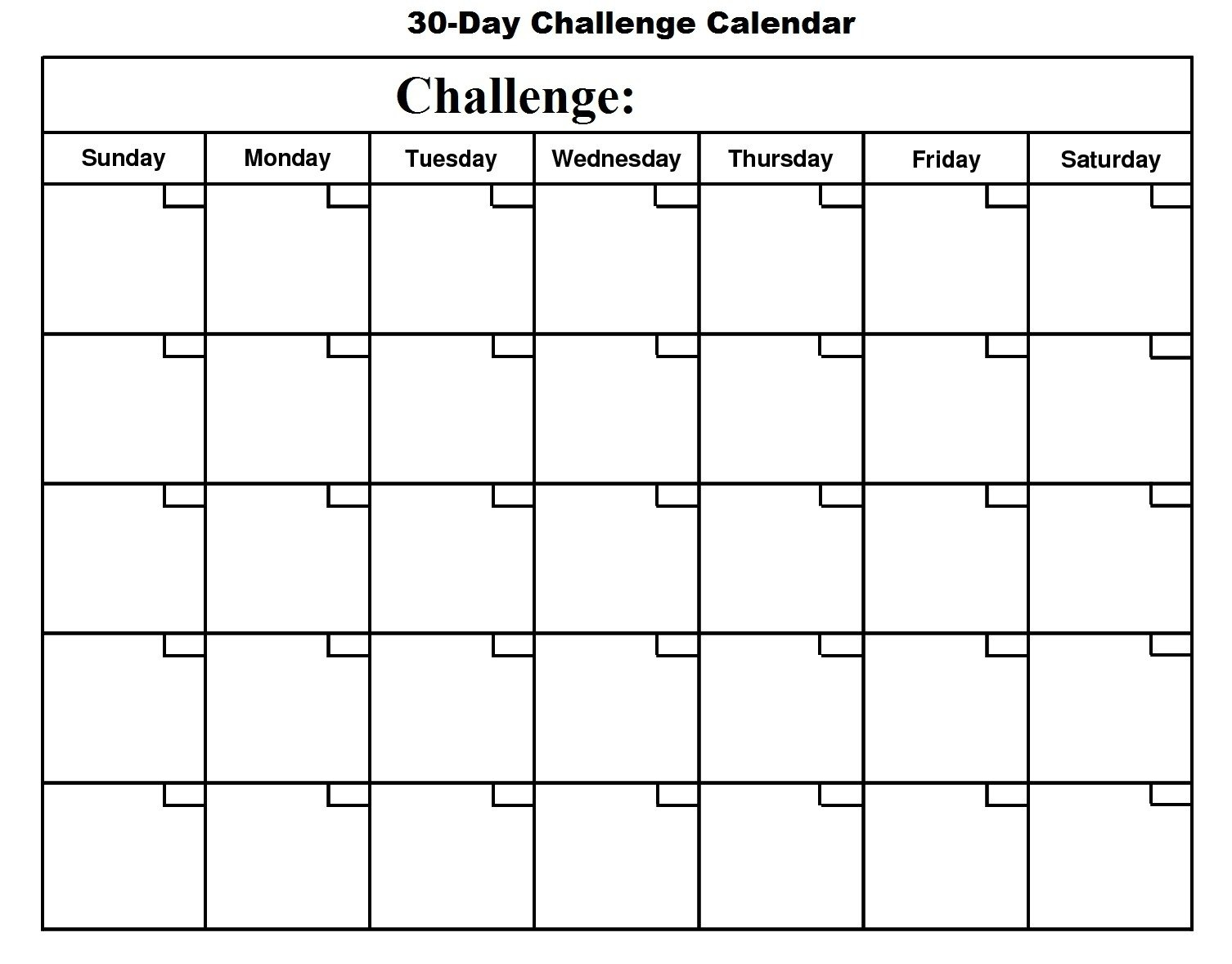 Printable Day To Day Calendar – Calendar Inspiration Design Printable Blank 30 Day Calendar