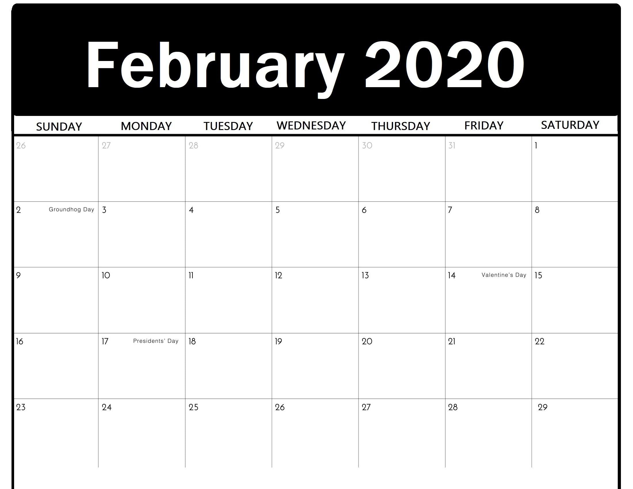 Printable February 2020 Calendar – Calendar Kart Free 2020 Calendar With Days Counted 1 365