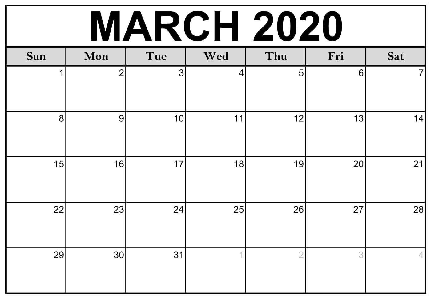 Printable Fill In 2020 Calndar – Calendar Inspiration Design Calendar To Fill In And Print