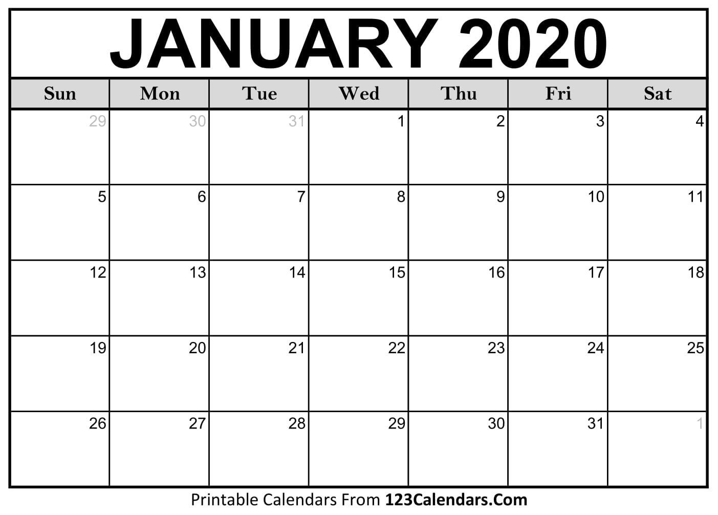Printable Fill In Calendar For 2020 – Calendar Inspiration Free Printable Fill In Calendars