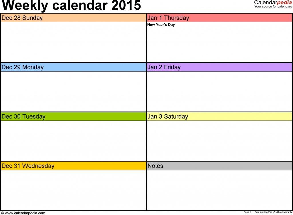 Printable Two Week Calendar – Calendar Template 2020 Printable Two Week Calendar