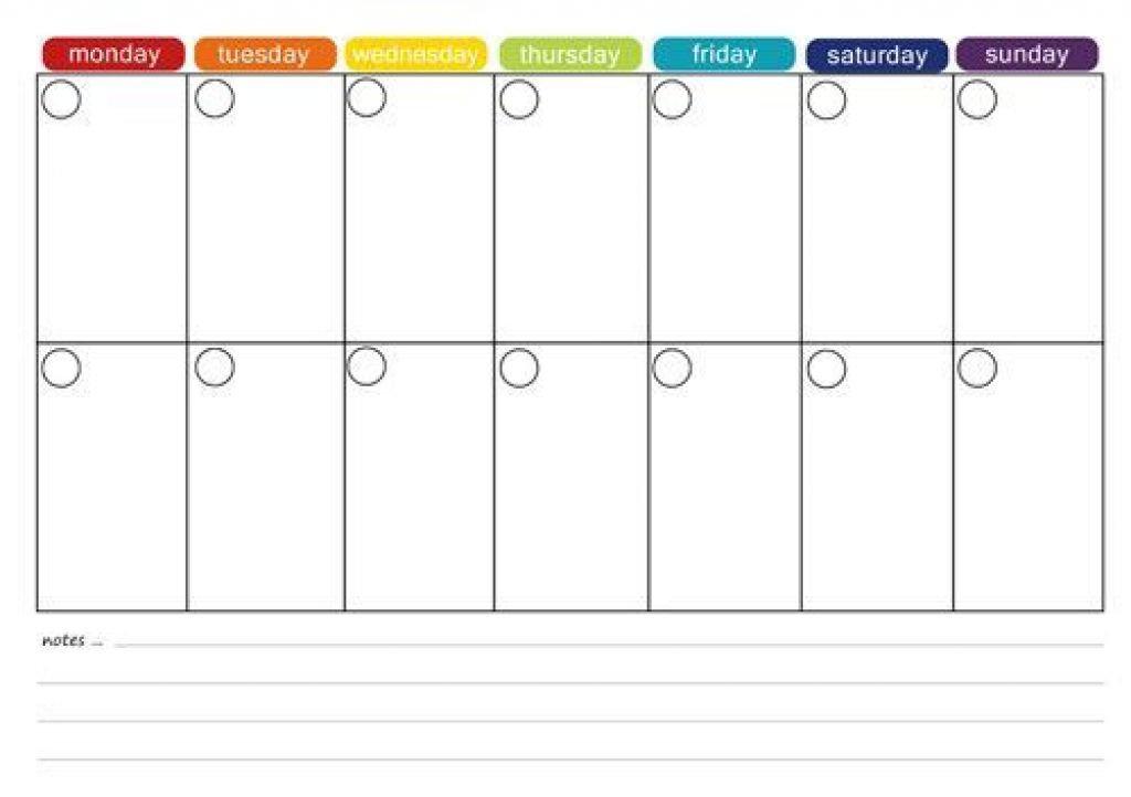 Printable Two Week Calendar Two Week Food Calendar