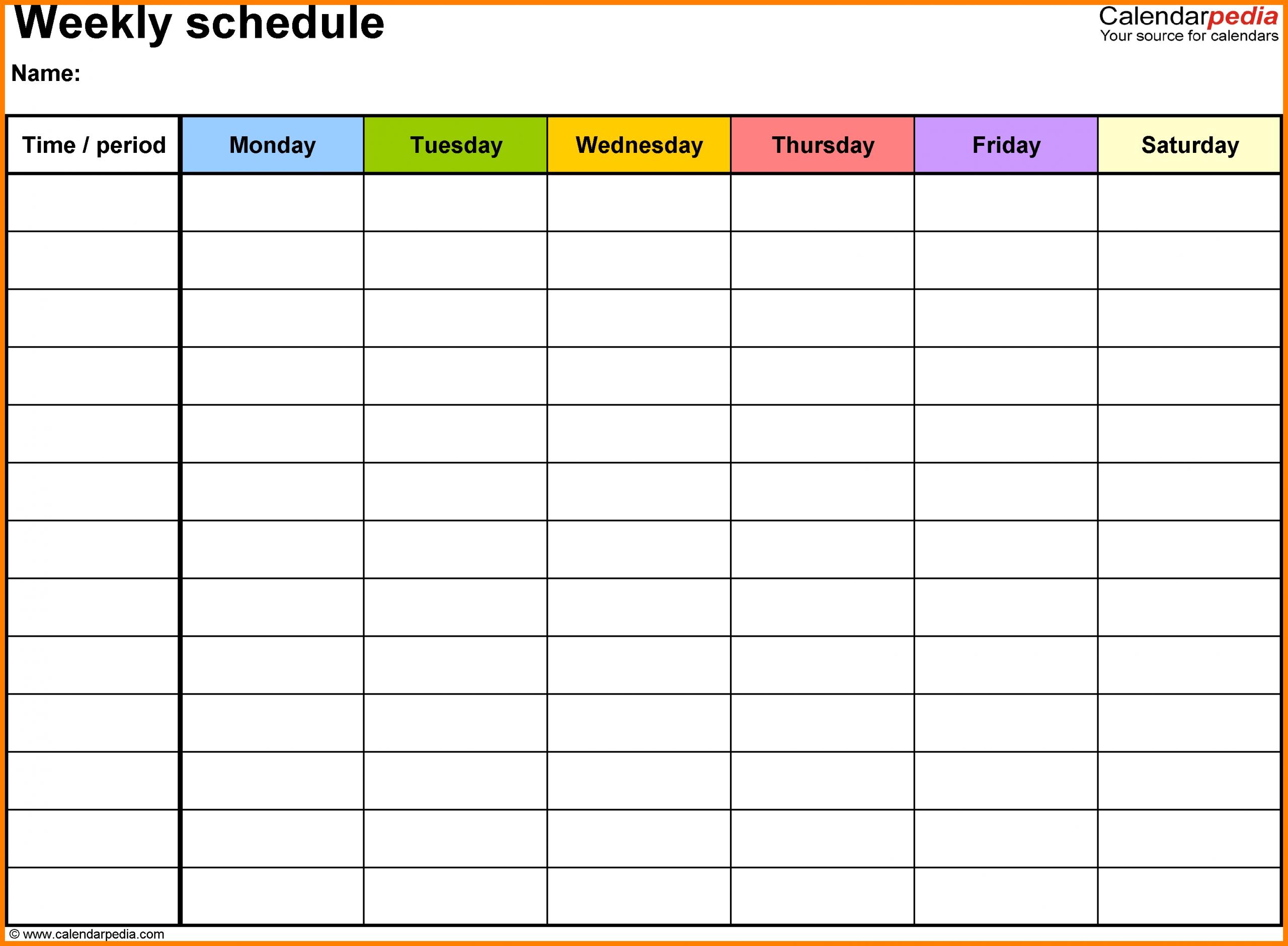 Printable Weekly Calendar With Time Slots – Calendar Interactive Calendar With Time Slots Free