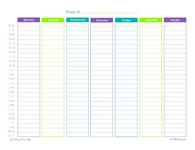 Printable Weekly Planner – Scattered Squirrel 1 Week Schedule Printable