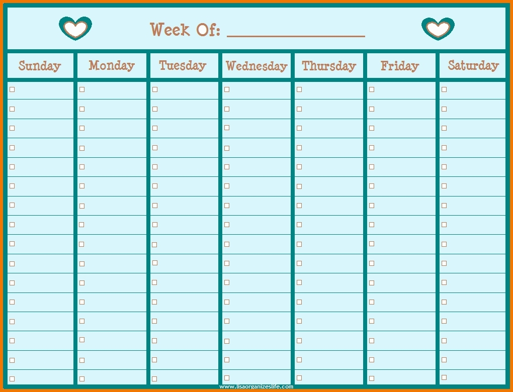 Printable Weekly Schedule With Hours Monday To Friday Weekly Calendar Saturday To Friday