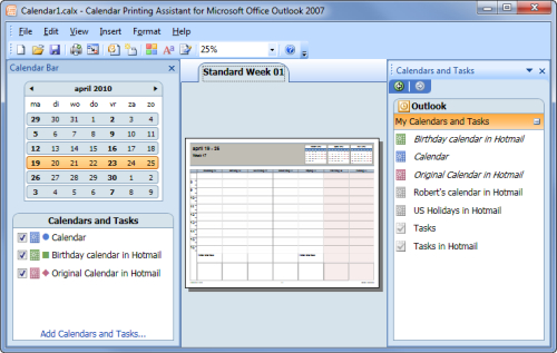 Printing Combined Calendars – Msoutlook Can You Merge Cozi Calendar And Outlook Calendar
