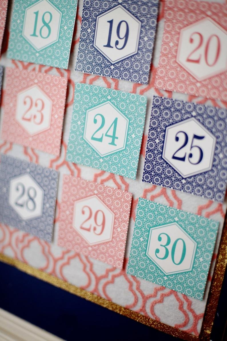Ramadan Calendar 30 Days Of Good Deeds Countdown To Eid   Etsy Ramadan Countdown Free Printable