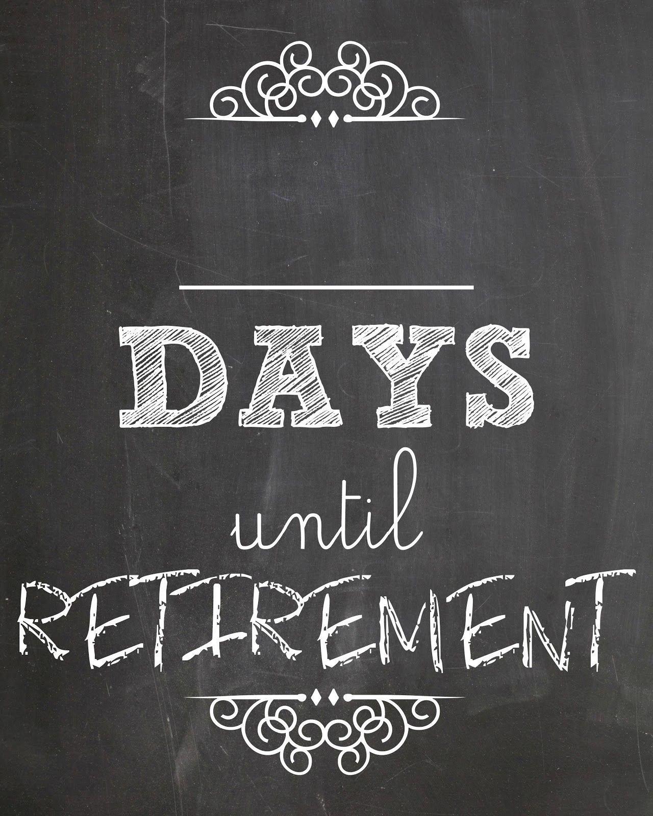 Retirement Countdown Calendar Ideas In 2020 | Retirement Retirement Countdown Calendars Printable