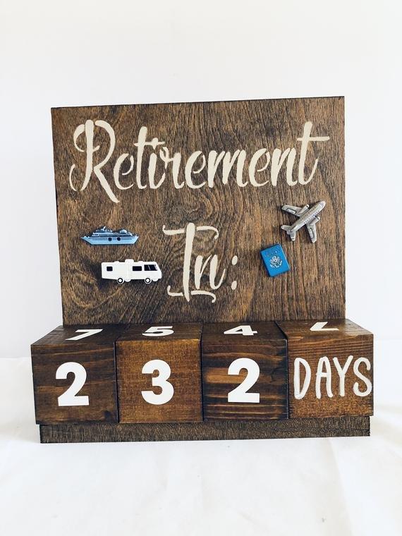 Retirement Countdown Calendar Travel Theme Congratulations Countdown Calendar To Retirement