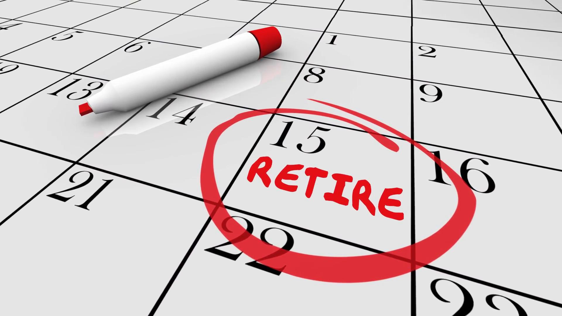 Retirement Day Date Circled Calendar Countdown Stop Retirement Countdown Calendars Printable