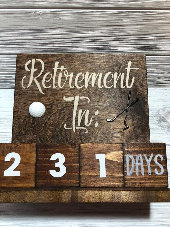 Retirement Gift Countdown Calendar, Golf Gifts Countdown Calendar To Retirement