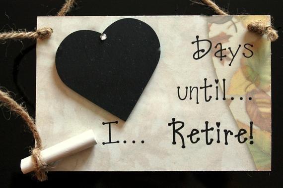 Retirement Gift Days Until I Retire Retirement Age Calendar Countdown
