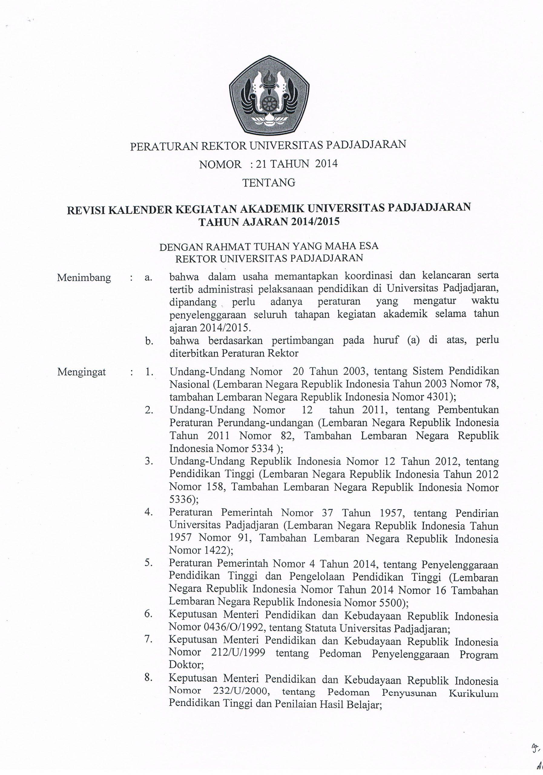 Revisi Kalender Kegiatan Akademik Universitas Padjadjaran Netspend Ssi Deposit Schedule