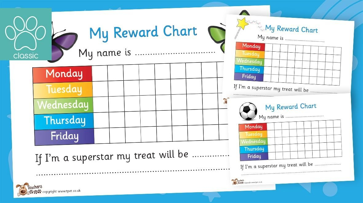 Reward Chart Pack In 2020 | Teachers Pet, School Closures Download Free Chart For Monday Friday