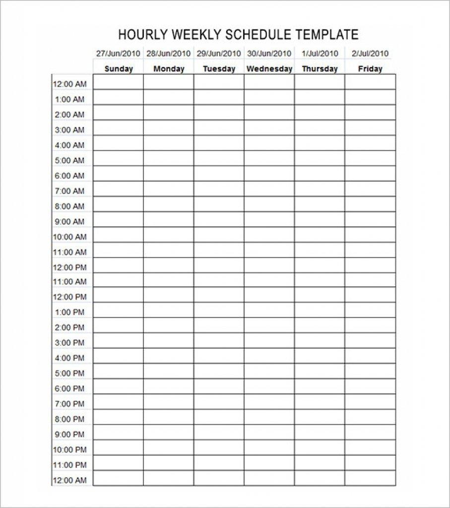 Schedule Calendar Printable Hour | Example Calendar Printable Hour Calendar Template Printable