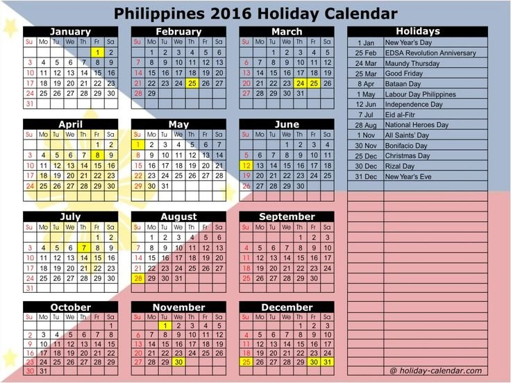 September 2016 Calendar Philippines   National Day Calendar Free 2016 Calendar With Room For Taking Notes